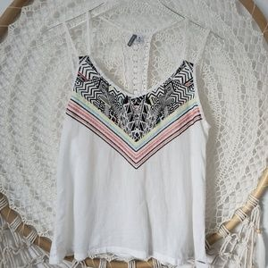 RIP Curl Embroidered top